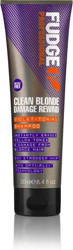 Fudge Clean Blonde damage rewind violet shampoo - 250ml