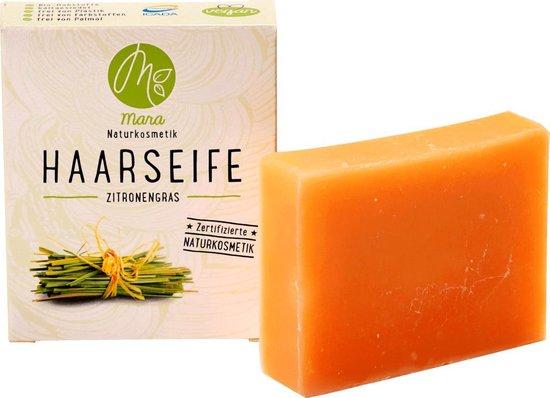 Mara Naturkosmetik Solid Shampoo Bar Citroengras - haarzeep -Zonder palmolie - Vegan (90 g)