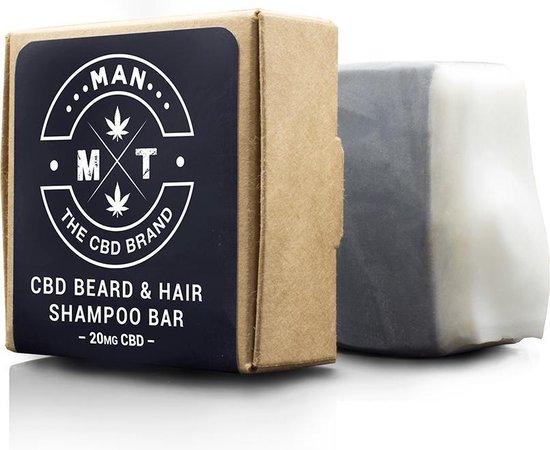 Unieke CBD gezicht, baard & -Haarzeep / Shampoo bar. Met CBD, Aloe en actieve houtskool. Vegan en vrij van THC, PMO, Parabenen, siliconen en sulfaten.