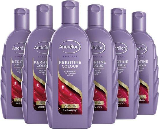 Andrélon Special Keratine Colour Shampoo - 6 x 300 ml - Voordeelverpakking