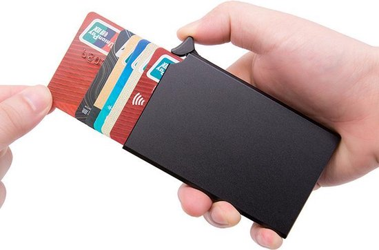 Basic Creditcardhouder / RFID Card Protector - 7 Pasjes - Zwart-Card Protector
