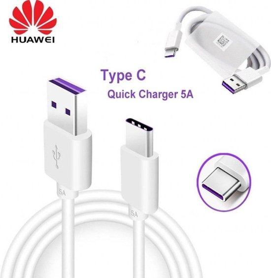 Huawei USB-C Oplaad Kabel/Data Kabel Snel Lader 5V 1 Meter originele Oplaad Kabel 1 Meter voor Huawei/Samsung/Nokia/HTC/Sony