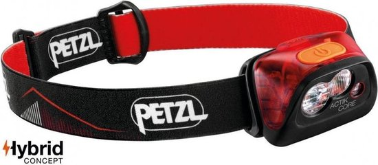 Petz Actik Core Hoofdlamp- Rood - 450 lumen