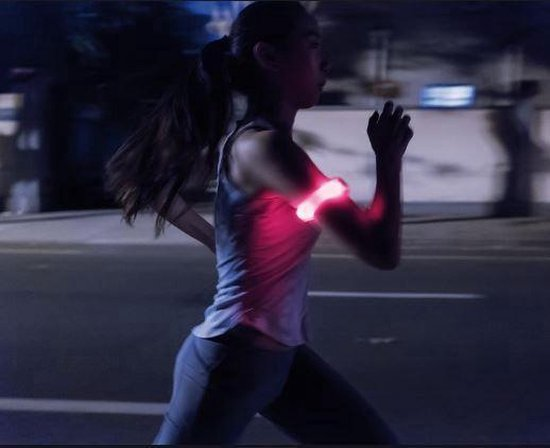 Reflecterende Hardloop Verlichting - Hardloop / Fiets Sport Armband Met LED Verlichting Rood