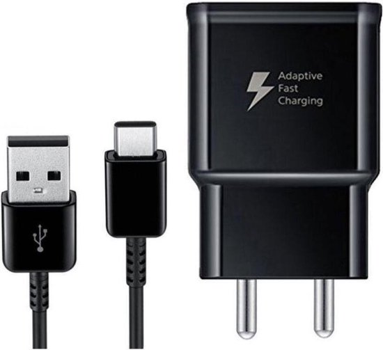 Samsung USB-C snellader fast charger ook voor Sony, Huawei, LG - 1m type C - 2.0A