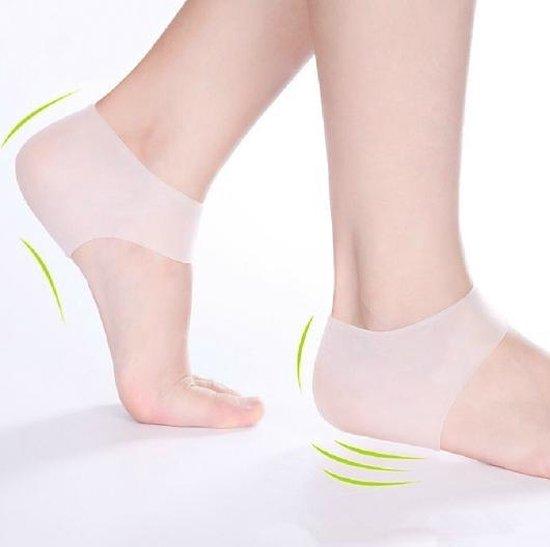 2 professionele hielbeschermers - Hiel kussens gel - Siliconen hiel bescherming - Hiel beschermers / gel sokken - Set