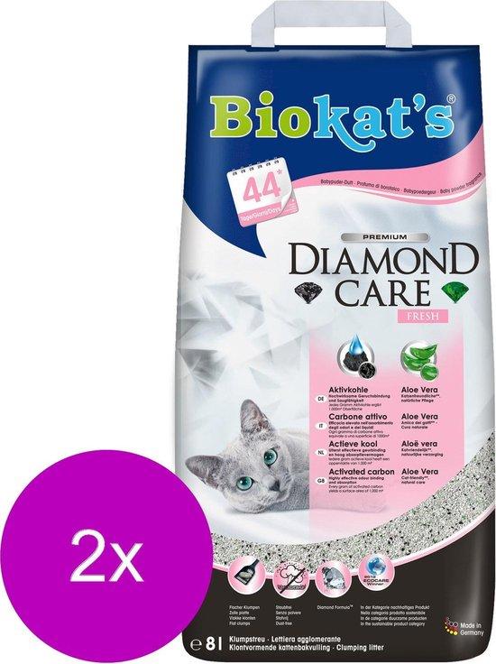 Biokat's Diamond Care Fresh Aloe Vera Geur - Kattenbakvulling - 2 x 8 l