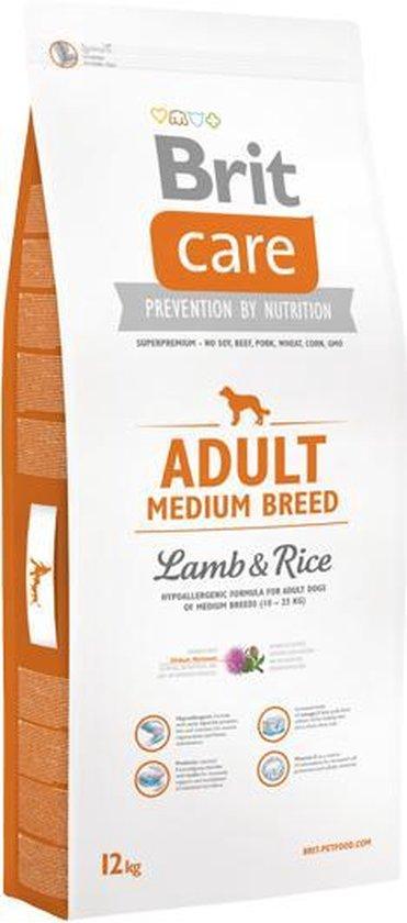 Brit Care Adult Medium Lam hypo-allergeen 12kg met 50% vlees!
