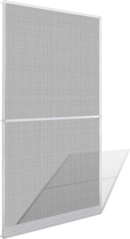 Hordeur met scharnieren 120x240 cm wit