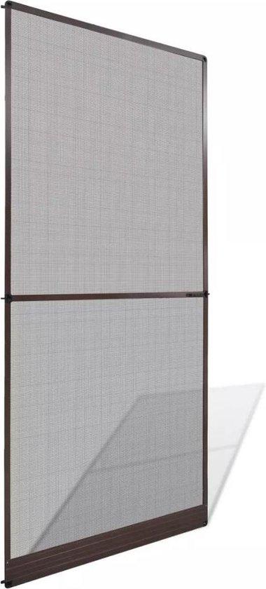 Hordeur met scharnieren bruin 100 x 215 cm