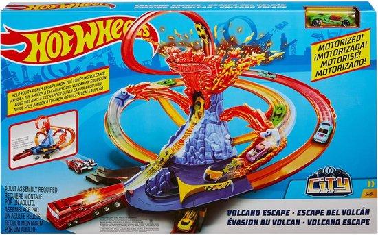 Hot Wheels City Ontsnap de Vulkaan Speelset - Racebaan