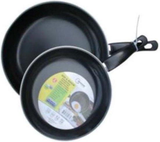 Koekenpan Set 20 en 25 cm Staal
