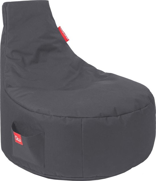 Maison's Game Zitzak - Bean Bag- Gaming - Game stoel - Grijs - Zitzak -Polyster- 90x65x80