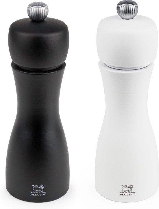 Peugeot Peper- & Zoutmolen Set Tahiti - Zwart/Wit - 15 cm