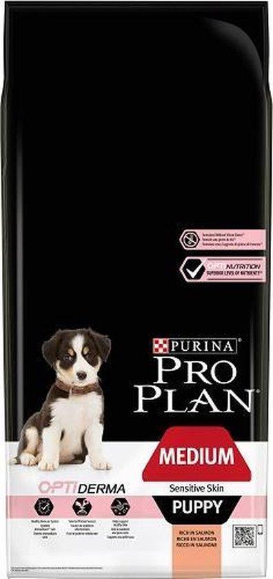 Pro Plan Medium Puppy Sensitive Skin - Hondenvoer Zalm - 12 kg