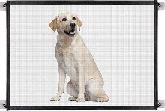 Traphekje zonder boren - Traphekje oprolbaar - S 110x72cm - Isolatie Netto Draagbare Vouwen Huisdier Hek Hond Barrière Baby Veiligheid Hekje Draagbare Vouwen Bescherming