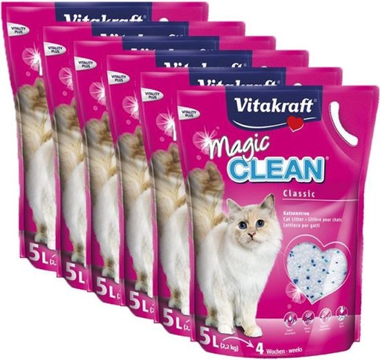 Vitakraft Magic Clean - Kattenbakvulling - 6 x 5 l