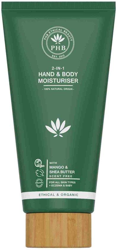 Phb Ethical Beauty Body & Hair 2-in-1 Hand & Body Moisturiser Creme Alle Huidtypen/eczeem/baby 150ml