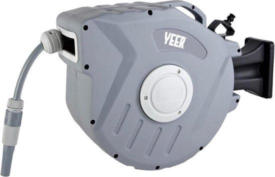Yeer® wandslangenbox, tuinslang 15 meter met automatisch oprol- en vergrendelingssysteem