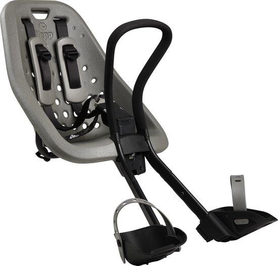 Yepp Mini Fietsstoeltje Voor - Zilver