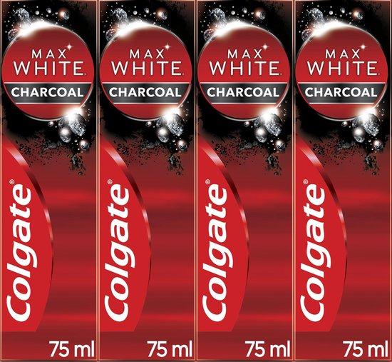 Colgate Max White Charcoal Whitening Tandpasta 4 x 75ml - Voordeelverpakking