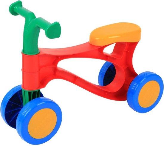 Lena My First Scooter rood/blauw/geel - Loopfiets
