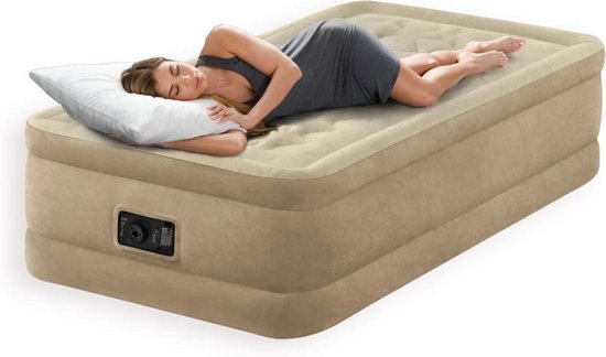 Intex Ultra Plush Twin Luchtbed - 1-persoons - 191x99x46 cm