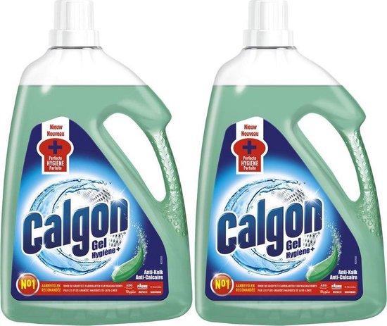 Calgon - Vloeibaar Hygiëne+ - Wasmachine Reiniger en Anti Kalk Gel - 2 x 2,25L