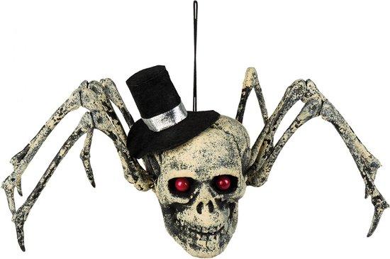 BOLAND BV - Skelet spin decoratie voor Halloween - Decoratie > Muur-, deur- en raamdecoratie