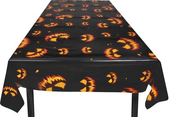 Boland - Decoratie > Tafelkleden - Plastic Tafelkleed Enge Pompoen 120x180cm Zwart
