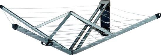 Brabantia WallFix Wanddroger - met Beschermhoes - 24 m - Metallic Grey