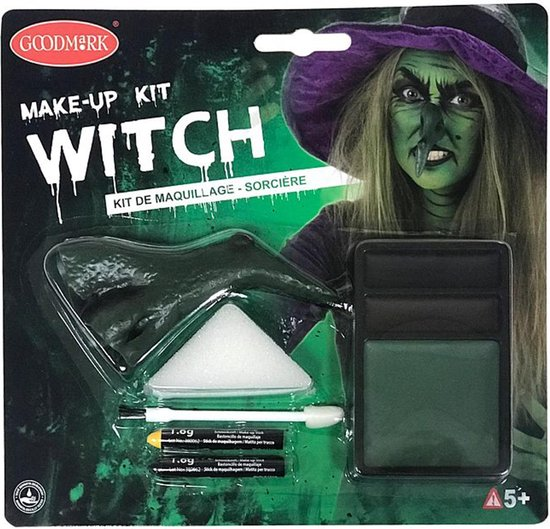GOODMARK - Heksen make-up kit voor volwassenen Halloween - Schmink > Make-up set