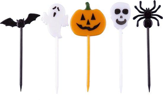 Halloween | Bento lunchbox | Bento box | cupcake decoratie | prikkers met versiering | taartversiering | taart decoratie