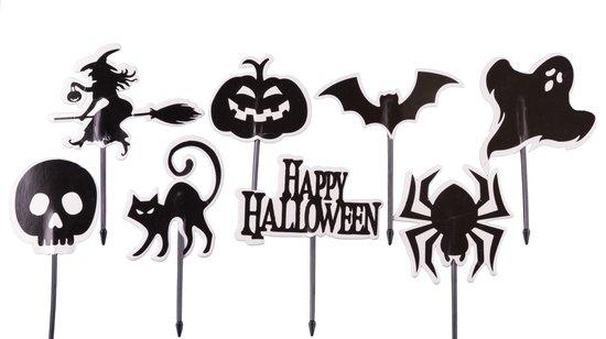 Halloween Black |16 stuks|cupcake - cupcake decoratie - cupcake versiering - cupcake toppers - taart decoratie - taartversiering