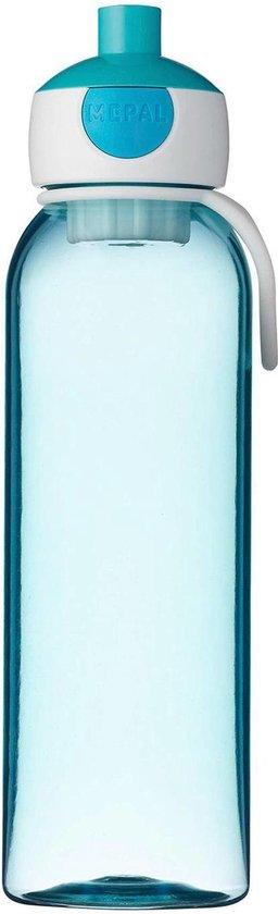 Mepal – waterfles pop-up Campus – 500 ml – turquoise – drinkfles kinderen – zicht op inhoud – BPA vrij