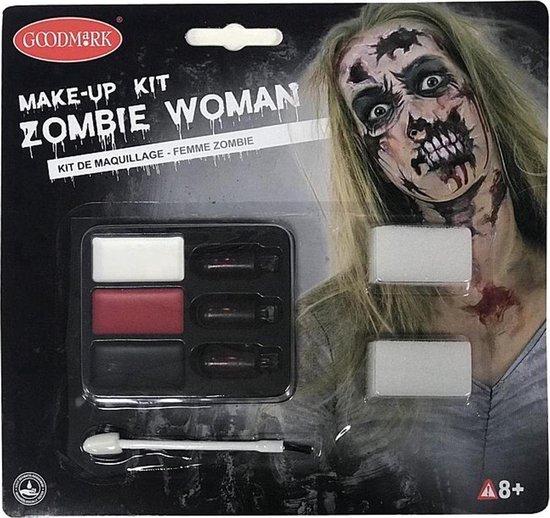 Schmink GOODMARK - Zombie make-up kit voor vrouwen Halloween - Schmink > Makeup set - haloween - carnaval