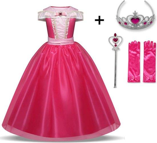 WiseGoods - Cinderella Jurk - Assepoester - Prinsessenjurk Meisje - Verkleedkleding - Kinderkostuum - 6-7 jaar - 116-122