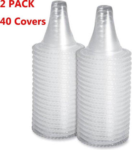 2x (40 stuks) Navul set - Braun filters oorthermometer - Thermometer - Lens Filters - Thermoscan - Cover Set Van 2x 20 - Totaal 40 stuks - Beschermkapjes