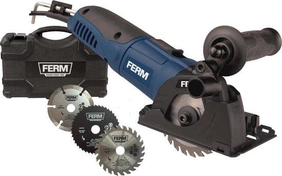 FERM Invalzaag 500W variabele snelheden - incl. 3 zaagbladen en opbergkoffer