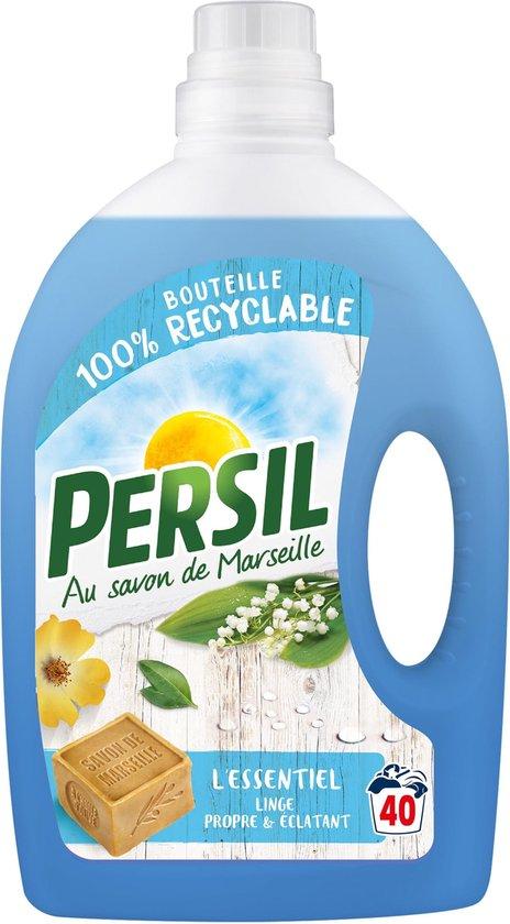 Persil L'essentiel met marseillezeep - 40 wasbeurten - Fles vloeibaar wasmiddel - Recyclebare fles